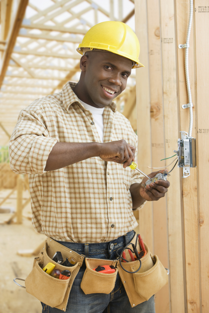 Electrician in Construction Site